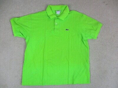 Lacoste Polo Shirt Adult 2XL XXL Size 8 Green Crocodile Casual Rugby Mens A14