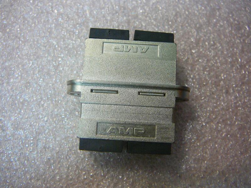 AMP Fiber Optic Connector Assy DUPLEX Receptacle SC/SC HSG **NEW**