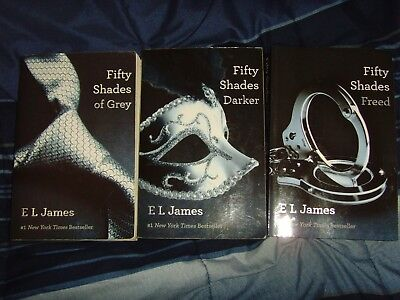 Fifty Shades Of Grey Book Set Lot Series 3 Trilogy Free Shipping Darker Freed