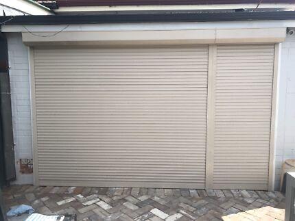 External security shutters for door