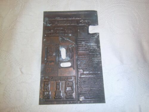 Vintage printing plate Electric Refrigerator ad copper plate