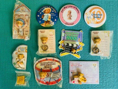 Very Rare Lot of 10 Brand New Cherished Teddies Unique Pins Pristine Condition🌼