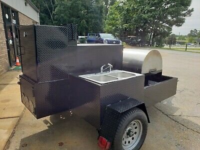 Mobile Pizza Oven Fire Brick Stainless Steel Sink Trailer Food Truck Catering
