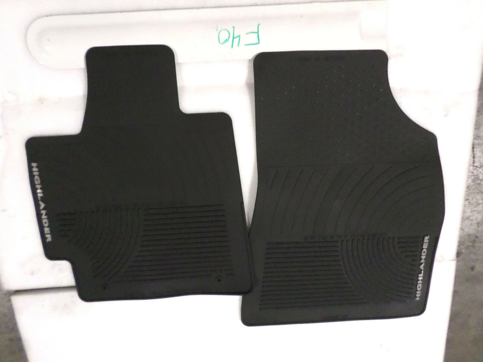 Weathertech mats for 2013 toyota highlander - Nice Oem All Weather Floor Mats Pair Toyota Highlander Black 2008 2013 Fronts