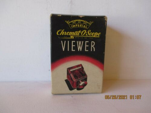 """VINTAGE IMPERIAL CHROMAT O-SCOPE """"VIEWER"""" -ORIGINAL BOX - BELIEVE NEW -FREE SHPG"""