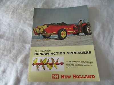 New Holland 475 331 222 Ripsaw-action Manure Spreaders Brochure