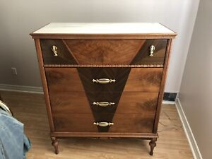 Hard wood dressers w/ mirror and matching night tables