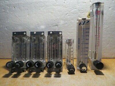 Lot Of 8 Air Gas Flow Meters 7 Zyia 1 King 1 Cole Parmer Water Flow Meter