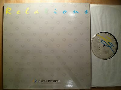 LP, V/A, Relations, Quaker Chemical, EEC, 1987, NM+, Topzustand, FOC