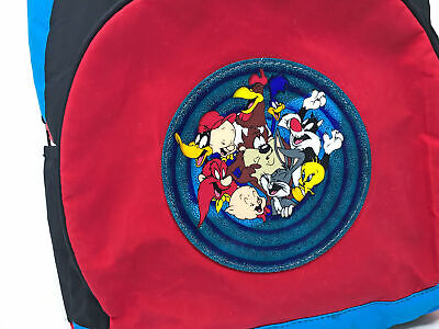 Vintage Looney Tunes Backpack 90s Bugs Bunny Daffy Duck Tweety Bird Porky Pig - $49.99