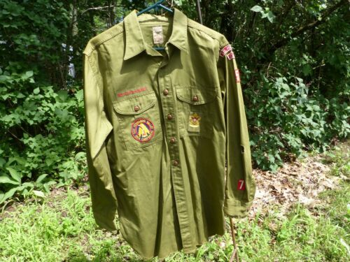 Used 1954 Vintage Boy Scouts of America Uniform L/S Shirt North Hollywood Calif.