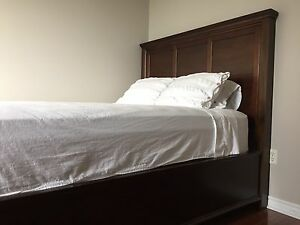 Solid Wood Queen Bed - from Costco