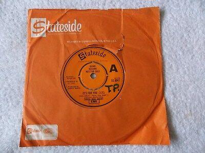 "Rare Promo THREE DOG NIGHT - IT'S FOR YOU /FEELIN ALRIGHT, UK Demo 7"" Vinyl 1970"