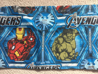 Marvel Avengers Thor Hulk Captain America Iron Man Twin Flat Sheet Fabric