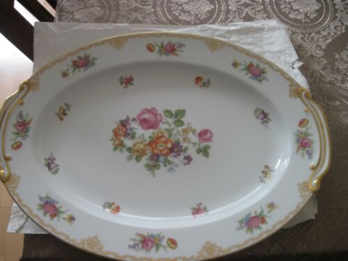 1945-1952 Made in Occupied Japan Rose China Oval 16in. Platter