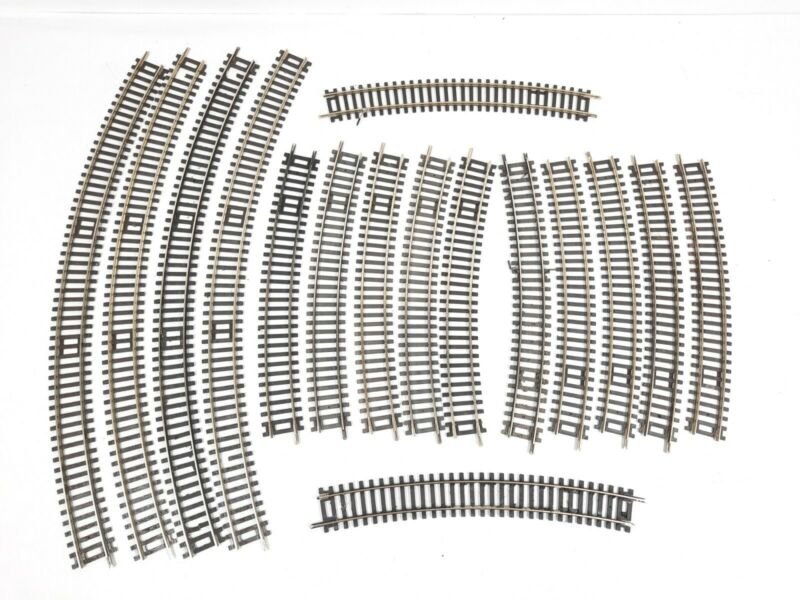 Lot of 16 Peco Hornby ST-231, ST-235 Curved Setrack HO/OO Gauge SEE PICS / READ