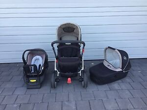 Steelcraft Cruiser pram incl bassinet and capsule Landsdale Wanneroo Area Preview
