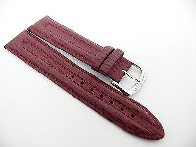 UNITED COLORS OF BENETTON Uhrenarmband Ersatzband Echtleder Bracelet 20 Weinrot