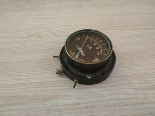 Old vintage analog ammeter.