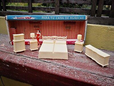 Mexican Bedroom Furniture (VTG RARE & UNIQUE MEXICAN LILI LEDY BEDROOM SET NEW IN OB DOLLHOUSE FURNITURE )