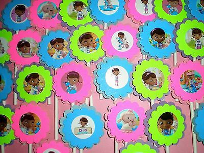30 Ct Doc McStuffins cupcake toppers Birthday Party Favors, Baby Shower 30Ct - Doc Mcstuffins Baby Shower