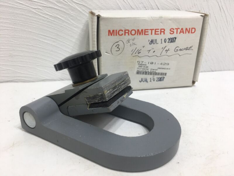 Vintage Machinist Micrometer Stand In Box