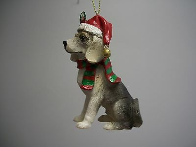 Labrador Lab Retriever Dog Scarf Santa Hat Bell XMas Hanging Ornament NWT
