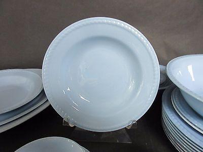 "Set of 2 Homer Laughlin Kraft Blue Soup Bowls 8 1/2"""