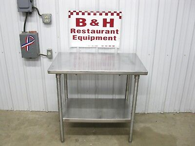 36 X 24 Stainless Steel Heavy Duty Work Table W Under Shelf 3 X 2