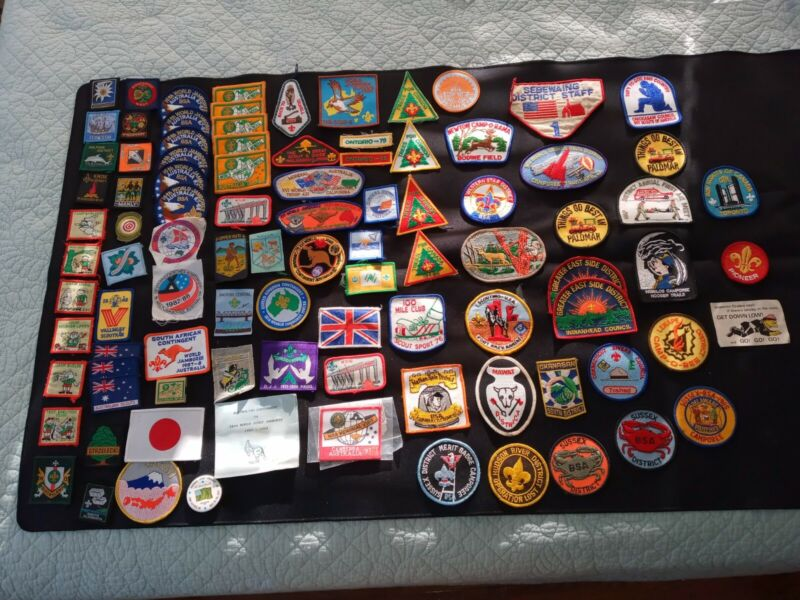 Large lot of BSA Patches 87-88 World Jamboree Australia and more