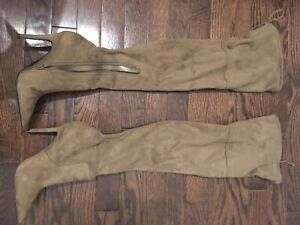 Aldo taupe knee high boots size 5
