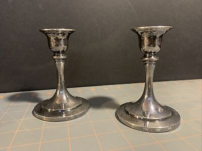 Oneida Paul Revere Reproduction Vintage Silver Candlestick Holders
