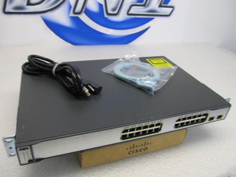 Cisco Ws-c3750-24ts-s 24-port 10/100 + 2x Sfp-based Gige Switch Gigabit E/fe Kmj