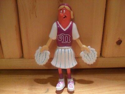 Vtg Nathans Famous Hot Dog Advertising Figure Frankster Bendy Cheerleader 1994