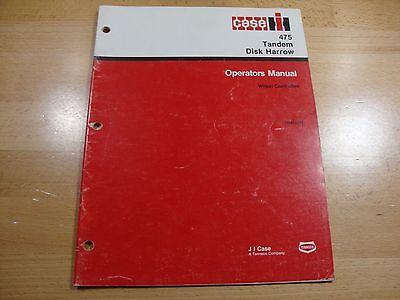 Case Ih 475 Tandem Disc Harrow Operators Maintenance Manual