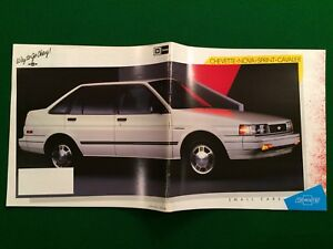1987 GM Chev small car brochure