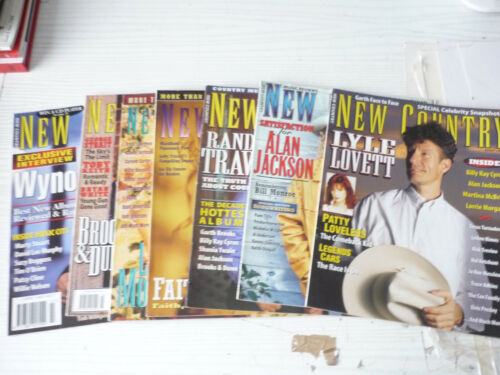 SEVEN  NEW COUNTRY MAGAZINES  1990s  AMERICAN MAGZINES