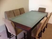 Dinnig table with 8 chairs+ solid coffee table for urgent sale Bankstown Bankstown Area Preview