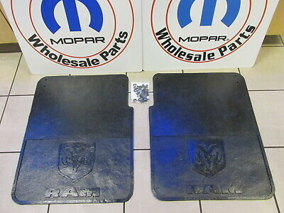DODGE RAM 3500 DUALLY HEAVY Duty Rubber Rear Mud Flaps NEW OEM MOPAR