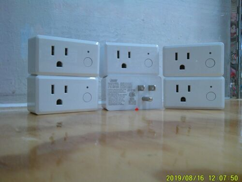 (Lot of 6) Feit Electric Wifi Smart Plug works with Alexa or Google Home