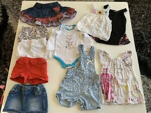 10 piece girl summer bundle - size 12-18 months Tarrawanna Wollongong Area Preview