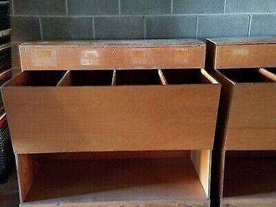 Storage Bins - Wooden Seedfeedmisc Bins