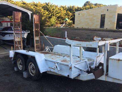 Bobcat Mini Excavator plant trailer Gisborne Macedon Ranges Preview