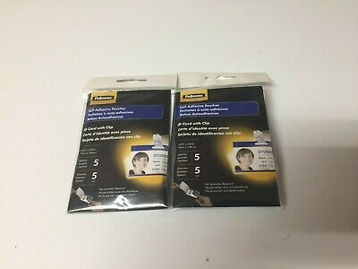 Fellowes Self Adhesive Laminating Pouches With Clip Crc52207  Lot Of 2