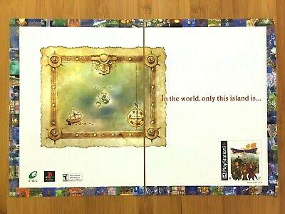 Dragon Warrior VII 7 PS1 Playstation 1 2001 Vintage Print Ad/Poster Official Art