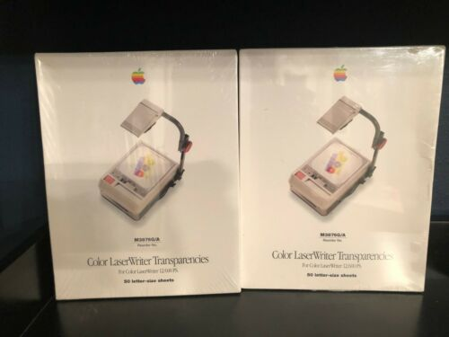 2 boxes of Apple Color LaserWriter Transparencies 12/600 PS. 100 Total M3876/A