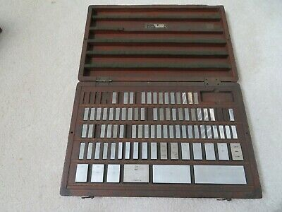 Vintage Icc And Other 80 Piece Gage Block Set Case Gauge Jo Joe