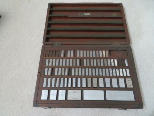 Vintage ICC (and other) 80 Piece Gage Block Set Case gauge jo joe
