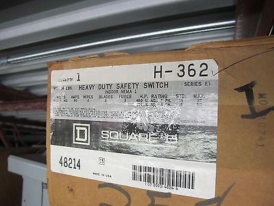 Square D H362 60 Amp 600 Volt Fusible Nema 1 Disconnect E Series- New