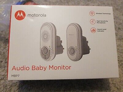 Motorola MBP7 Wireless Audio Baby Monitor. Brand New and sealed in box.